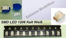 10 trozo de LED SMD 1206 frío blanco c2887