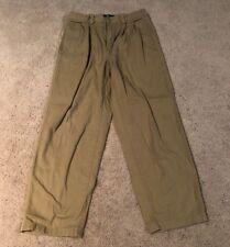 Nautica Tan Pleated Casual Pants Size 7 (XL)
