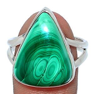 Bulls Eye - Malachite - Congo 925 Sterling Silver Ring Jewelry s.9 BR110067