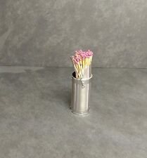Long Match Stick Holder in a steel finish