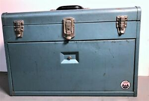 Vintage Waterloo JL-70, 7 Drawer Mechanics Tool Chest Tool Box in Metallic Green