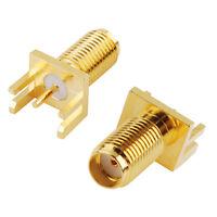10pcs SMA Female Coaxial Connector Solder Attachment 0.062 inch End Launch PCB