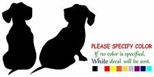 "Dachshund Puppies Dog Funny Vinyl Decal Sticker Car Window bumper laptop  7"""