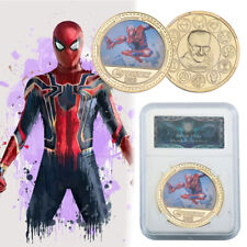 WR Spiderman The Avengers Gold Commemorative Coin Gifts For Fans In Slab
