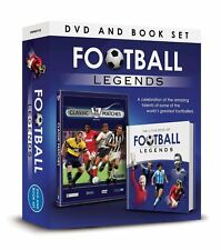 FOOTBALL LEGENDS DVD AND BOOK SET, CLASSIC MATCHES DVD & LITTLE BOOK OF FOOTBALL