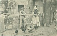 """Feeding The Poultry""   Vintage PC RJ.1129"