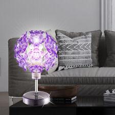 LED CHROME Lampe de table fleurs Lumière Mauve énergie économies éclairage
