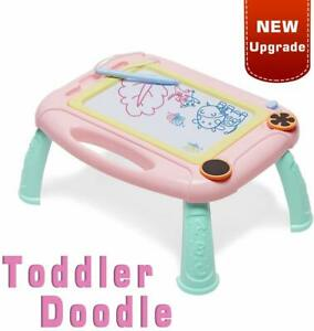 Toys for 1 2 3 4 Year Old Girls Gifts, Kids Magnetic Drawing Board Random Color