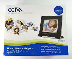 Ceiva 8 inch Digital Photo Frame Wi-Fi Black/Wood Finish Brand NEW