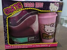 3 Womens Period Panties Menstrual Underwear Cotton size Large + Hello Kitty Cup