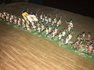 51 Painted 1/72 Napoleonic Austrian Line Infantry w Artillery & Archduke Charles