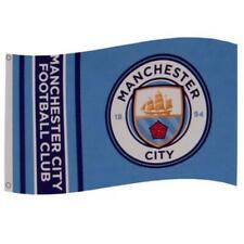 Манчестер Сити 3 футов (примерно 0.91 м) x 5 футов (примерно 1.52 м) командный гребень флаг/баннер официально лицензированный новый логотип