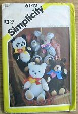 Vintage 1938 Simplicity Panda, Koala, Teddy, and Polar Bear Pattern