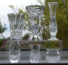 Czech/Bohemia Vase Clear Crystal & Cut Glass