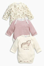 ВNWT NEXT Baby Babygrows Outfit • Bear Bodysuits 3pk •100% Cotton • 0-3 Months