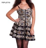 HELL BUNNY Club MINI DRESS Steampunk LUNA Goth Lolita Grunge All Sizes