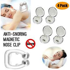 4 PCS Nose Clip Anti Snore Stopper Magnetic Silicone Stop Snoring Apnea Aid