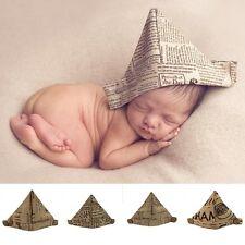 Newborn Baby Handcraft Linen Newspaper Hat Cap Paper Hat Photo Photography Props