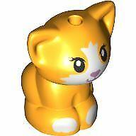 LEGO Friends Baby Cat Kitten Sitting Animal Minifigure (Bright Light Orange)