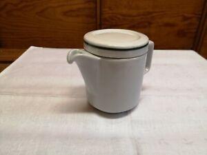 Mitropa DDR Keramik Kaffeekanne/n weiß/grün