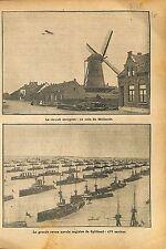 Windmill moulin à vent Pays-Bas Netherlands/Naval Review Royal 1911 ILLUSTRATION