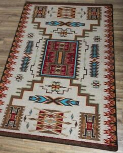 """Storm Catcher Rust Southwest Ranch Country Farmhouse Rug 7'8"""" x 10'11"""""""