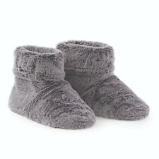 fea69806d Aroma Home Grey Soft Faux Fur Scented Microwavable Slipper Boots Free Size  4-7