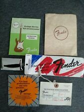 Fender American Vintage 62 1986 - 1989 Stratocaster Manual - Hang Tags