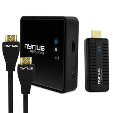 Nyrius Wireless Video HDMI Transmitter & Receiver with BONUS HDMI Cable