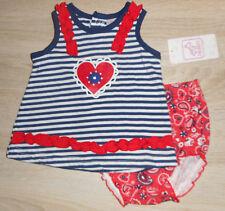 Baby  Mädchen Sommer Set 💕 2tlg Sommeranzug 💕 Kleid + Hose 💕 HERZEN 💕 NEU