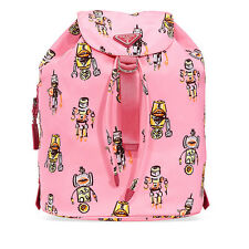 Prada Medium Robot Printed Backpack - Pink