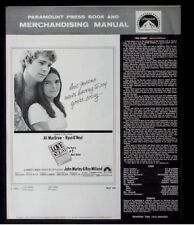 Love Story-1970 Ali McGraw, Ryan O'Neal Vintage Movie Pressbook ads poster imgs