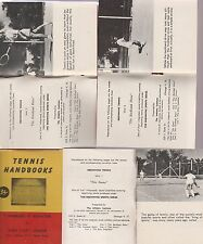 """Fundamental Lessons Of Tennis-5 1949 Booklets Featuring Harry """"Cap""""Leighton"""