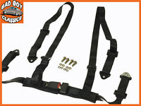 4 Point Black Racing Seat Belt Safety Harness Ideal For 4x4 / OFF ROAD