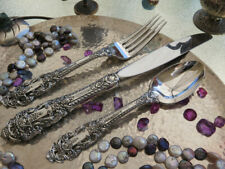 DINNER SET PLACE GORHAM CROWN BAROQUE STERLING SILVER FORK KNIFE OVAL SOUP SPOON