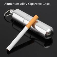 Portable Mini Cigarette Case Aluminum alloy Cigarette Key Buckle Case Keychain