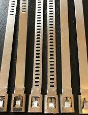 EF 30x KABELBINDER Metall Stahl Edelstahl Motor Auspuff Krümmer Silber Chrom