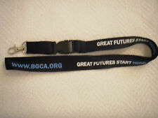 Boys and Girls Club of America Quick Release Lanyard Black for Keychain or Badge