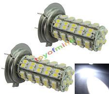 2X H7 5W 68-SMD LED de los faros de xenón coche bombillas de la lámpara 12v
