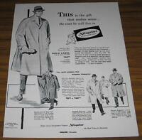 1955 VINTAGE AD~ALLIGATOR ALL-WEATHER COATS~MENS FASHION