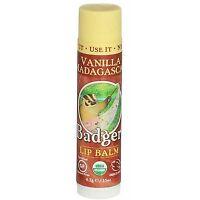 2 Pack Badger Classic Lip Balm Stick, Vanilla Madagascar, 0.15 oz