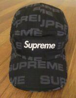 Supreme Reactive Print Camp Cap Hat Black FW20 Supreme New York 2020 New DS