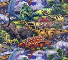 "Dinosaurs Allover Fleece Fabric - 60"" Wide - Style# 3168"