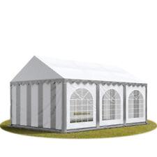4x6m Heavy Duty PVC Marquee with GROUNDBAR Garden Gazebo Party Tent, grey-white