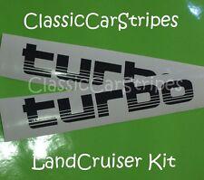LandCruiser Turbo 100 Series Black Decal Sticker toyota