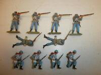 Konvolut 10 alte Elastolin Kunststoff Figuren Südstaatler USA Bürgerkrieg zu 4cm