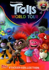 TOPPS Trolls World Tour 2020 Sticker einzeln Sticker/Karten Auswahl - 5 Stück