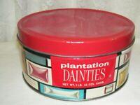 Vintage Plantation Dainties Candy Tin Box Philadelphia 34 PA