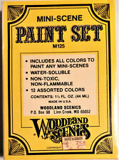 Woodland Scenics Mini Scene Paint Set #M125 with 12 Assorted colors