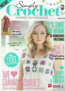 Simply Crochet Magazine 31 Patterns Granny Squares Beret Bunting Brooch 2013